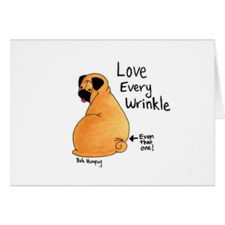 A Pug Wrinkle in Time Greeting Card