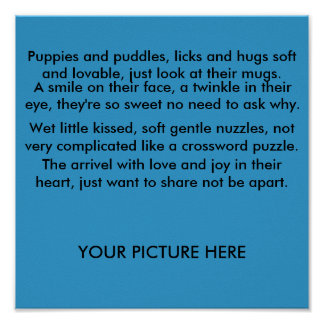 A puppy poem poster