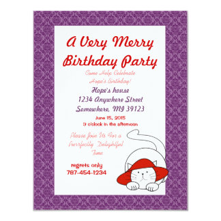 A Purr-Fectly Delightful Invitation Birthday Party