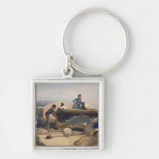 A Quiet Day in the Diamond Battery, plate from 'Th Silver-Colored Square Key Ring