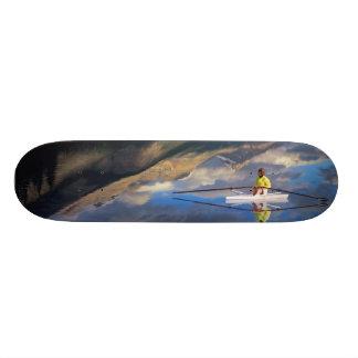 A rower on Banff Lake in the Canada MR) 19.7 Cm Skateboard Deck