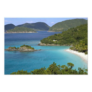 A scenic of Caneel Bay from a road at St. John Photo Art