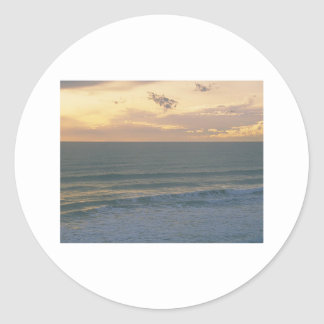 A Sea Side Dream Round Sticker