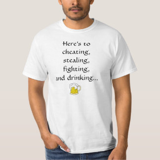 A toast for friends (English)  Here's to... Tshirt