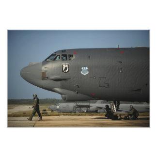 A US Air Force aircrew prepares a B-52 Photograph