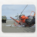 A US Coast Guard MH-65 Dolphin helicopter crash Mouse Pad