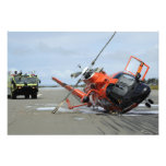 A US Coast Guard MH-65 Dolphin helicopter crash Photo Print
