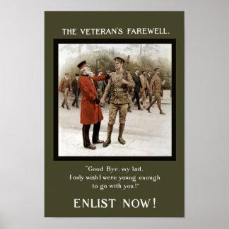 A Veteran's Farewell - WW1 Recruiting Poster