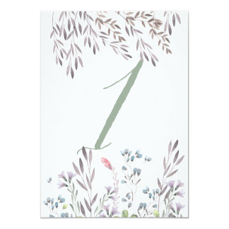 A Wildflower Wedding Table No. 1 Double Sided Card 13 Cm X 18 Cm Invitation Card