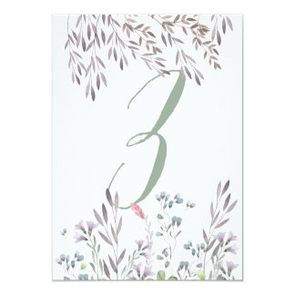 A Wildflower Wedding Table No. 3 Double Sided Card 13 Cm X 18 Cm Invitation Card