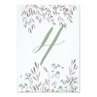 A Wildflower Wedding Table No. 4 Double Sided Card 13 Cm X 18 Cm Invitation Card