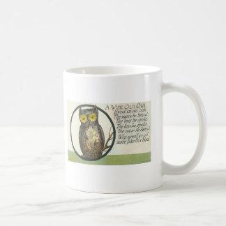 a wise old owl basic white mug