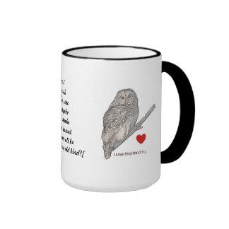 A Wise Old Owl Ringer Mug