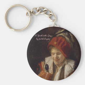 A Youth with a Jug Basic Round Button Key Ring