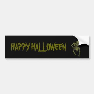 A Zombie Undead Skeleton Marching and Beating A Dr Bumper Sticker