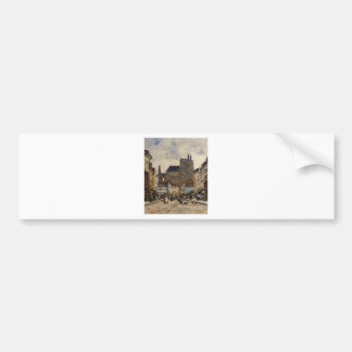 Abbeville, Street and the Church of Saint-Vulfran Bumper Sticker