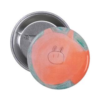 #ABC Art by Children, Pink Orange Pig 6 Cm Round Badge