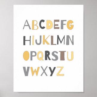 ABC Colorful Alphabet Nursery Art Decor | Boy Poster