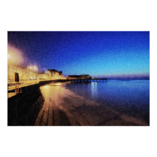Aberystwyth at Night Poster