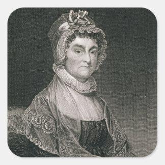 Abigail Adams, engraved by G.F. Storm (fl.c.1834) Square Sticker