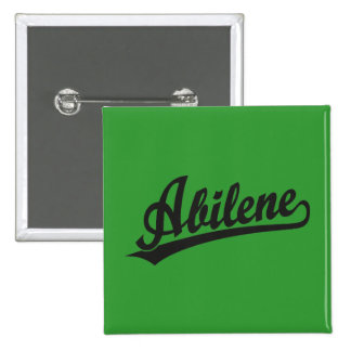 Abilene script logo in black 15 cm square badge