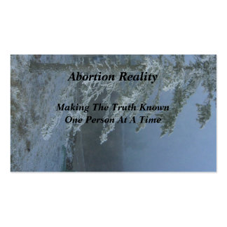 Abortion Reality Business Cards Snowy