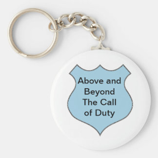 Above and Beyond the Call of Duty Badge Basic Round Button Key Ring