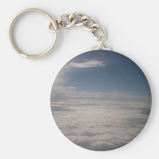 Above the Clouds Basic Round Button Key Ring