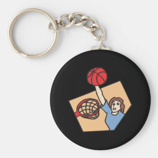 Above The Rim Basic Round Button Key Ring