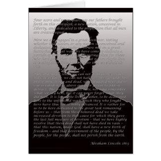 Abraham Lincoln Gettysburg Address Greeting Card