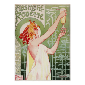 Absinthe Robette - Vintage French Ad Poster