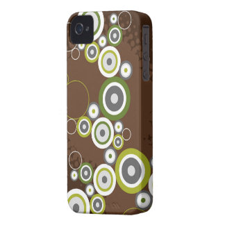Abstract Art Retro Circles Rings iPhone 4 CaseMate iPhone 4 Covers