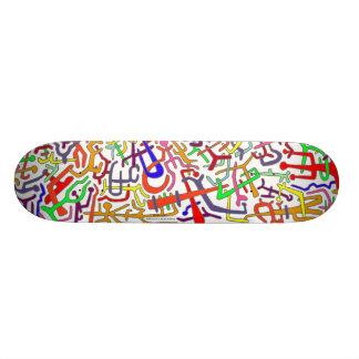 ABSTRACT ARTBOARD (white backround) Skateboard Deck
