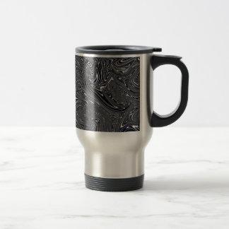Abstract Black And White Digital Art Stainless Steel Travel Mug