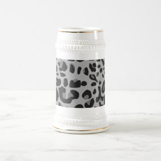 Abstract Black White Hipster Cheetah Animal Print Beer Steins