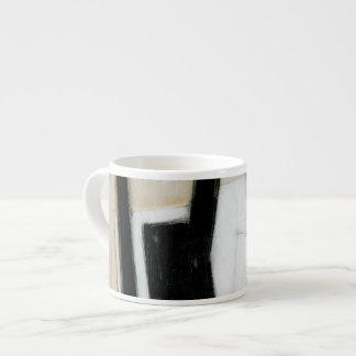 Abstract Black & White Painting Espresso Mug