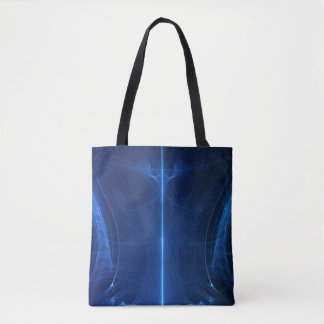 Abstract Blue Light Wave Tote Bag