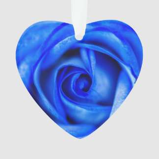 Abstract Blue Rose Macro Decoration Ornament