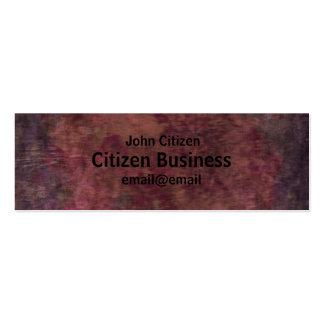 Abstract dark purple textured business card