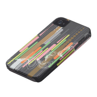 Abstract Digital Art Stripes iPhone 4 CaseMate iPhone 4 Case-Mate Cases