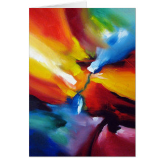 Abstract Expressionism Painting Greeting Card