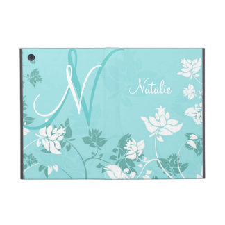 Abstract Floral Monogram Folio Case For iPad Mini