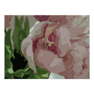 Abstract Floral - Pink Tulips 6 Poster