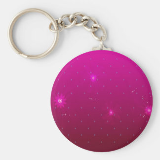 Abstract Flowers Purple Relax Basic Round Button Key Ring