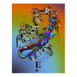 abstract Gecko Postcard