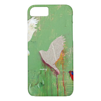 Abstract Green Birds Phone Case