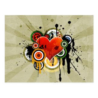 Abstract Heart Art Postcard