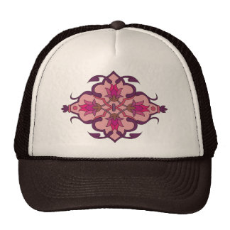 Abstract Motif : Textile Print Cap