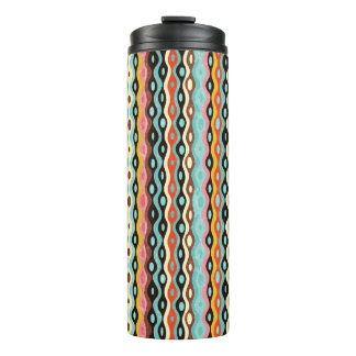 Abstract multicolor pattern thermal tumbler