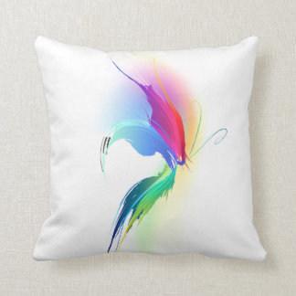 Abstract Paint Splatter Butterfly Cushions